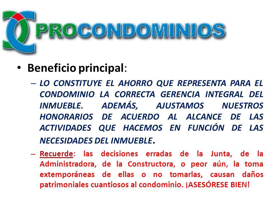 Beneficio principal: