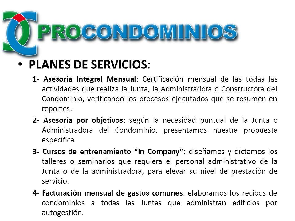 PLANES DE SERVICIOS: