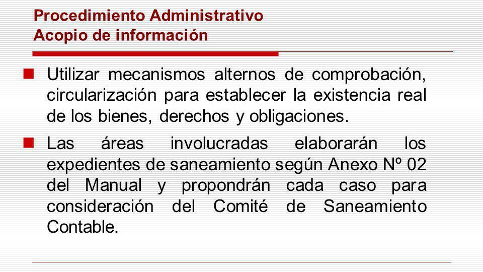 Procedimiento Administrativo Acopio de información