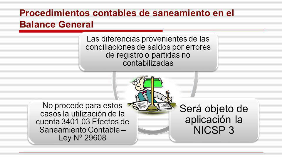 Procedimientos contables de saneamiento en el Balance General