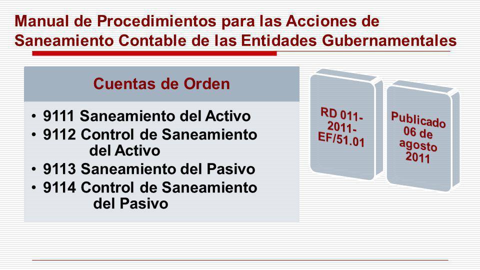 Manual de Procedimientos para las Acciones de Saneamiento Contable de las Entidades Gubernamentales