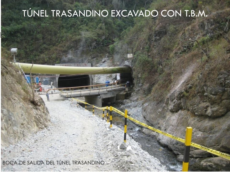TÚNEL TRASANDINO EXCAVADO CON T.B.M.