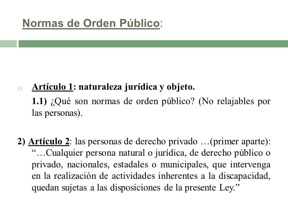 Normas de Orden Público: