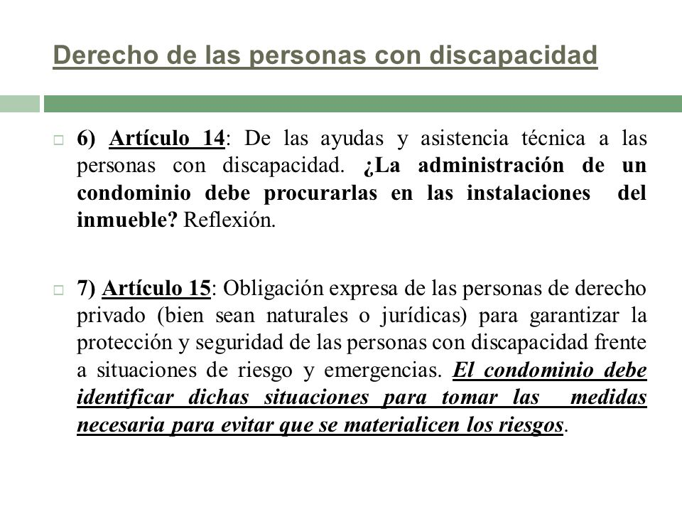 Derecho de las personas con discapacidad