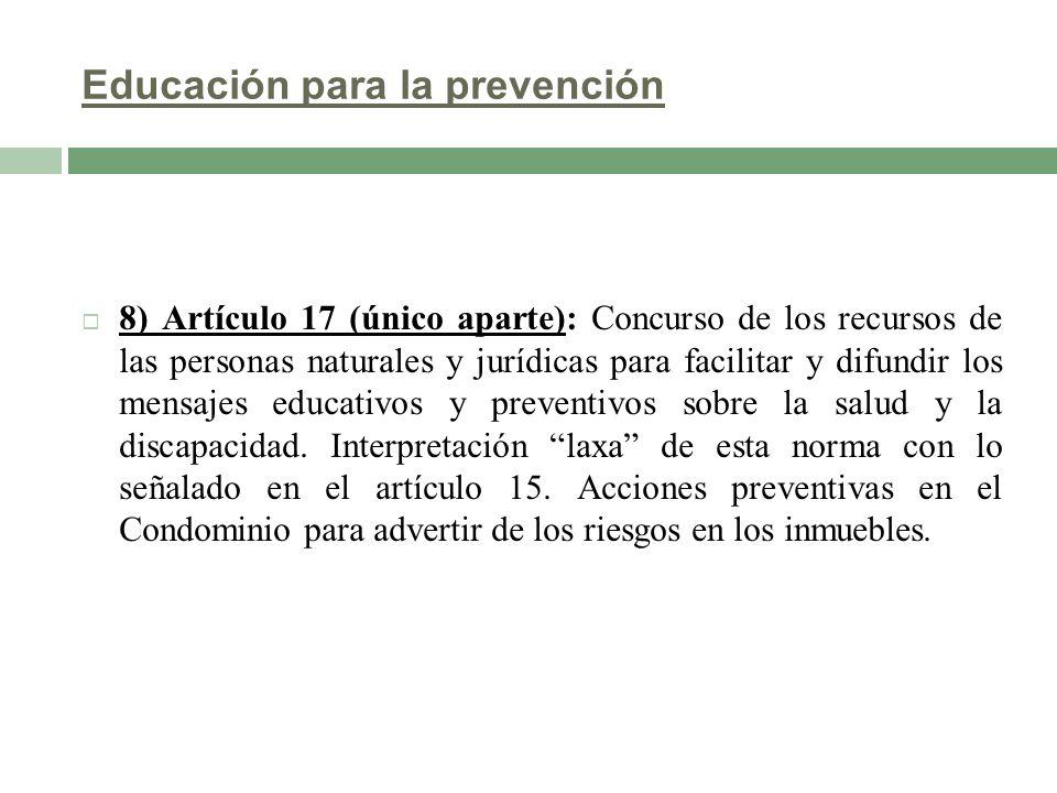 Educación para la prevención