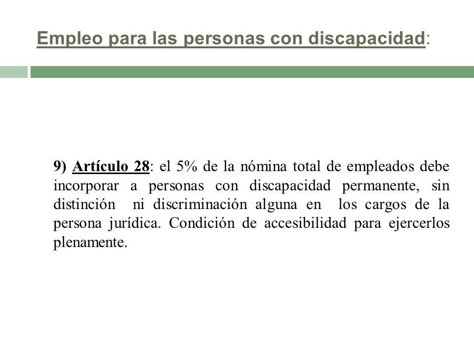 Empleo para las personas con discapacidad: