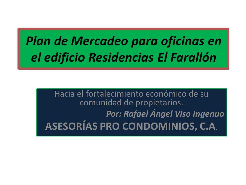 Plan de Mercadeo para oficinas en el edificio Residencias El Farallón