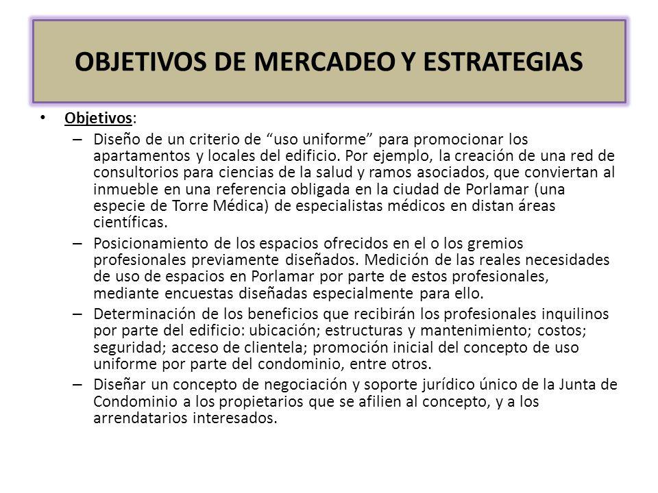 OBJETIVOS DE MERCADEO Y ESTRATEGIAS