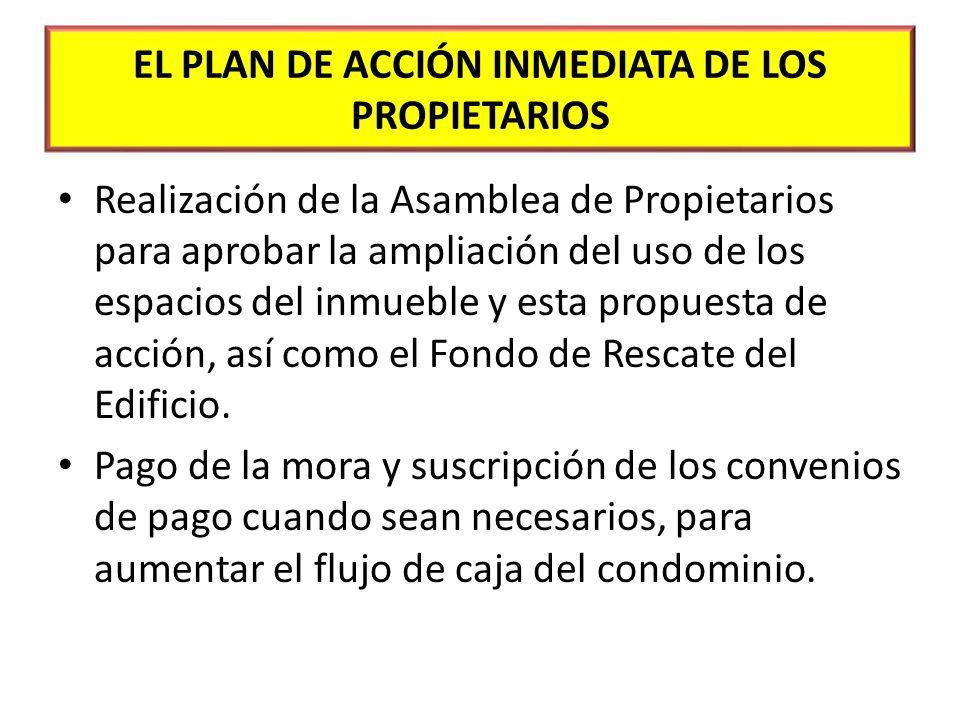 EL PLAN DE ACCIÓN INMEDIATA DE LOS PROPIETARIOS