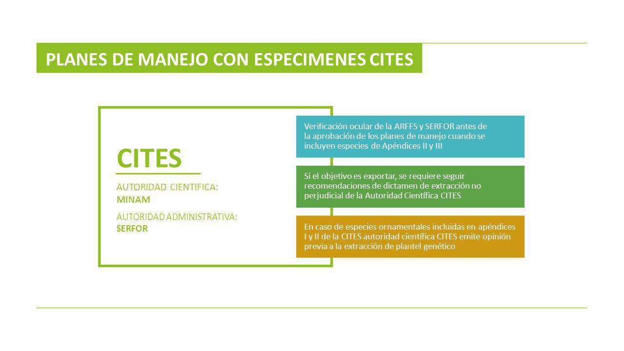 CITES PLANES DE MANEJO CON ESPECIMENES CITES AUTORIDAD CIENTIFICA:
