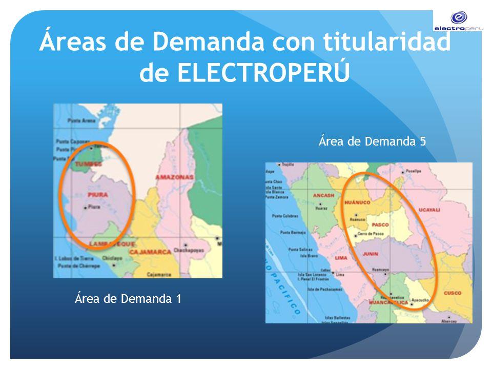 Áreas de Demanda con titularidad de ELECTROPERÚ