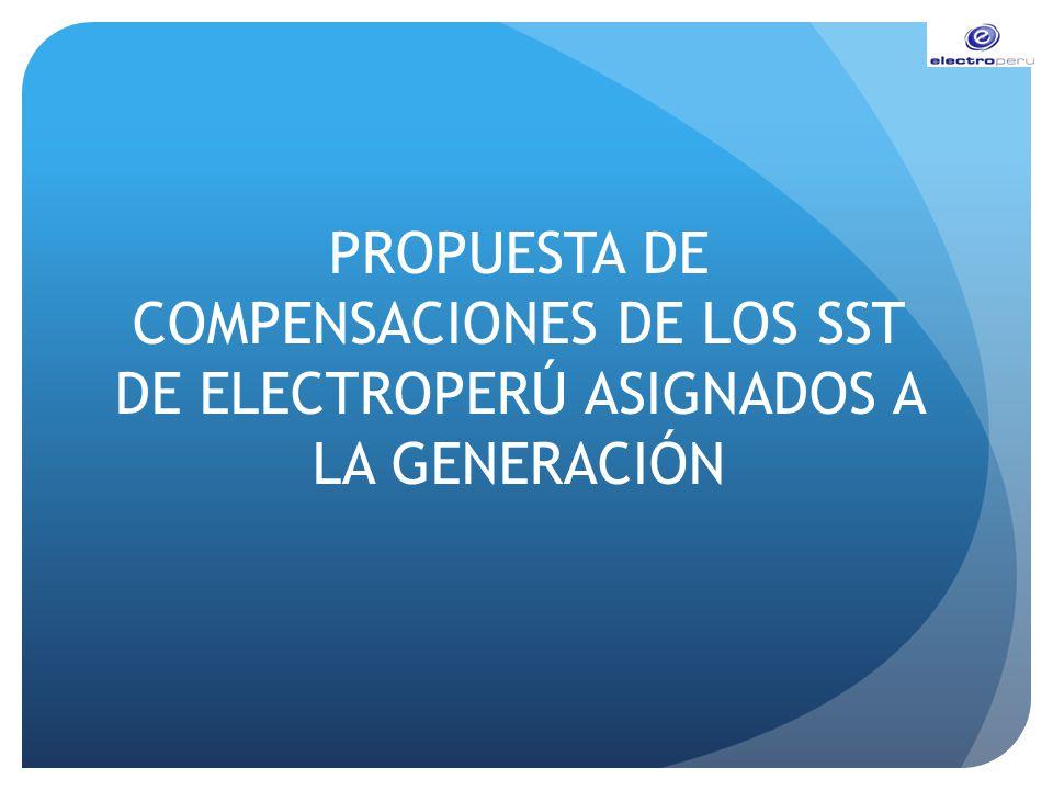 PROPUESTA DE COMPENSACIONES DE LOS SST DE ELECTROPERÚ ASIGNADOS A LA GENERACIÓN
