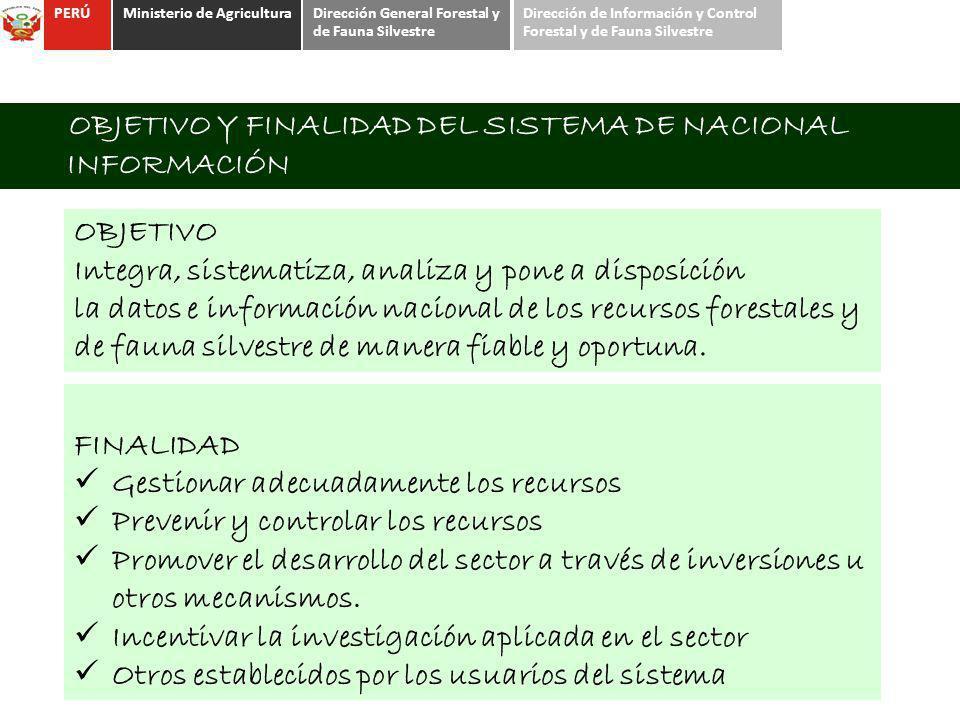 OBJETIVO Y FINALIDAD DEL SISTEMA DE NACIONAL INFORMACIÓN