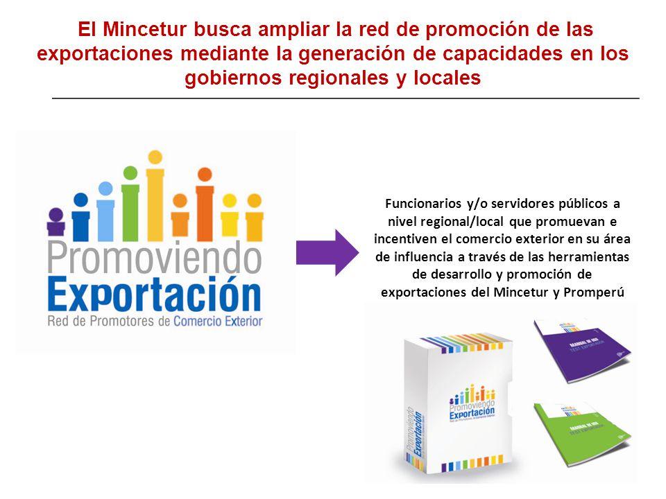 El Mincetur busca ampliar la red de promoción de las exportaciones mediante la generación de capacidades en los gobiernos regionales y locales