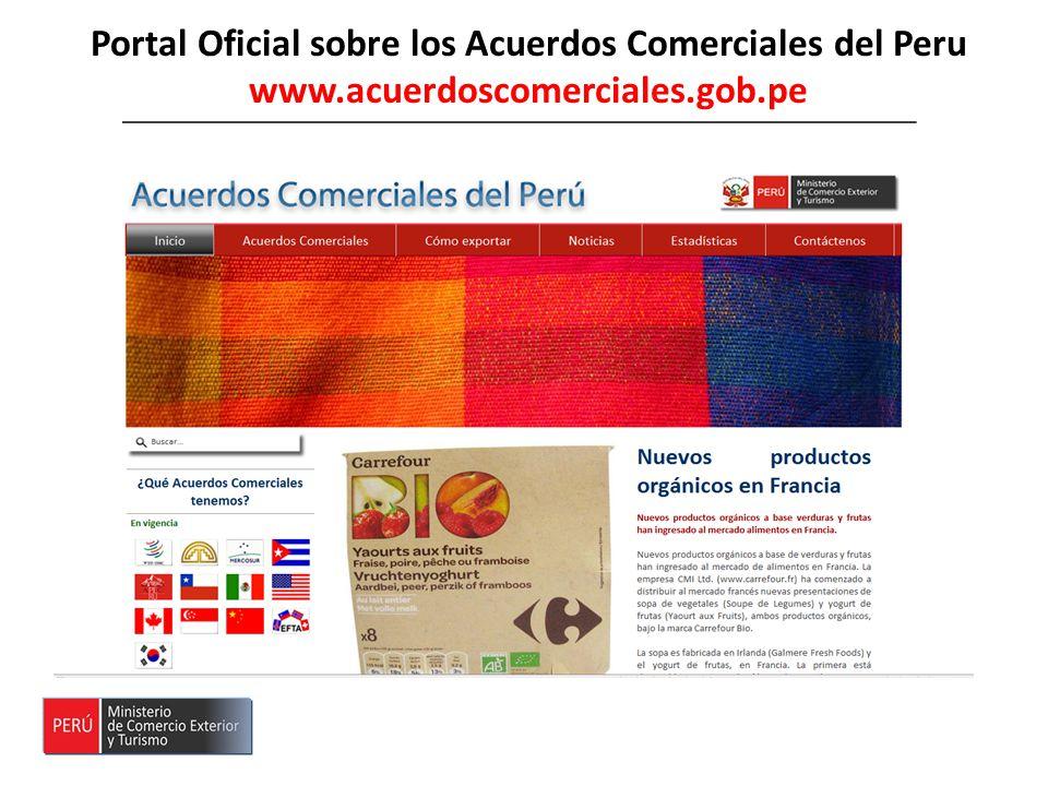 Portal Oficial sobre los Acuerdos Comerciales del Peru www