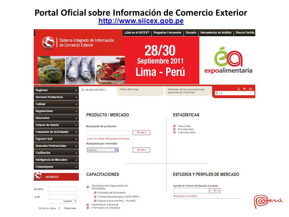 Portal Oficial sobre Información de Comercio Exterior