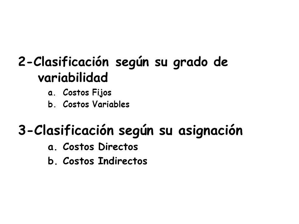 3-Clasificación según su asignación