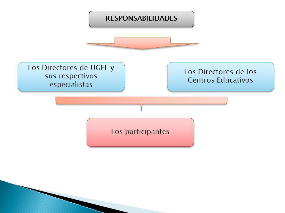 Los Directores de UGEL y sus respectivos especialistas