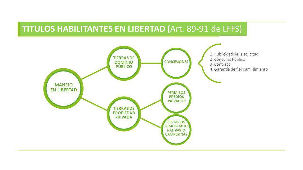 TITULOS HABILITANTES EN LIBERTAD (Art. 89-91 de LFFS)