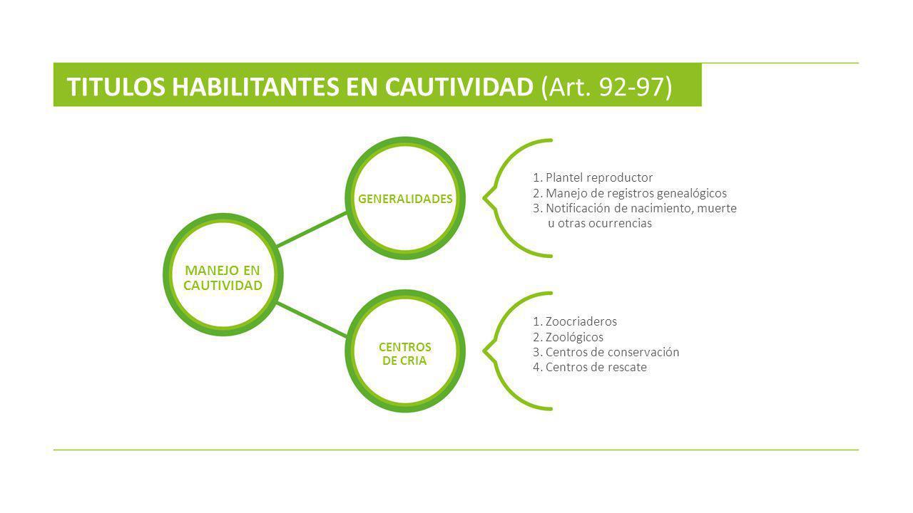 TITULOS HABILITANTES EN CAUTIVIDAD (Art. 92-97)