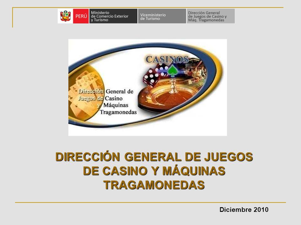 DIRECCIÓN GENERAL DE JUEGOS DE CASINO Y MÁQUINAS TRAGAMONEDAS