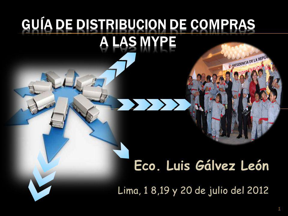 GUÍA DE DISTRIBUCION DE COMPRAS A LAS MYPE
