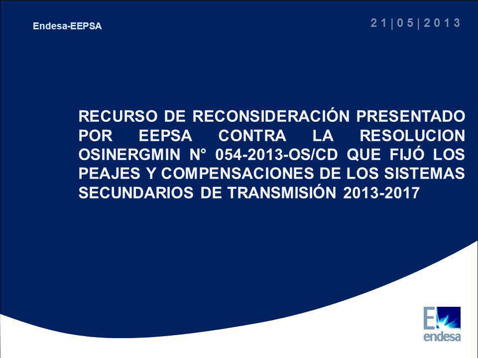 2 1 | 0 5 | 2 0 1 3 Endesa-EEPSA.