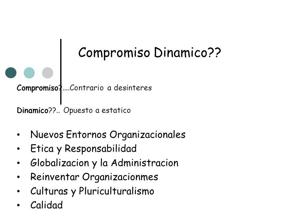 Compromiso Dinamico Nuevos Entornos Organizacionales