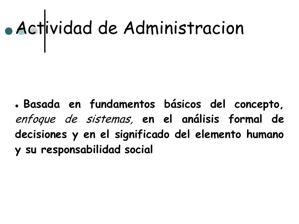 Actividad de Administracion