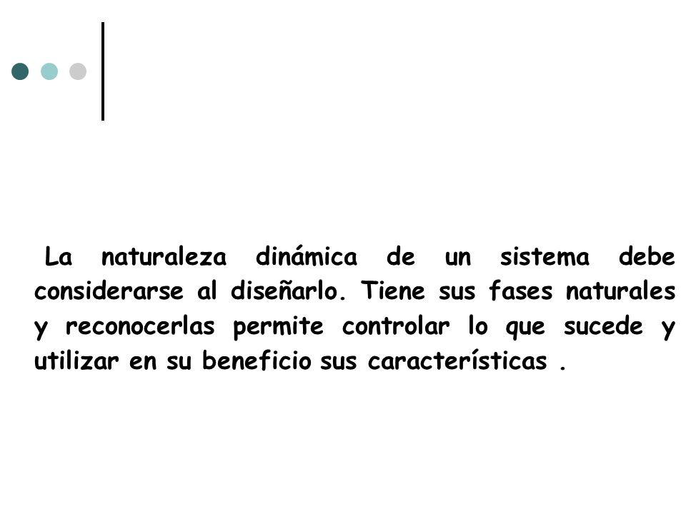La naturaleza dinámica de un sistema debe considerarse al diseñarlo