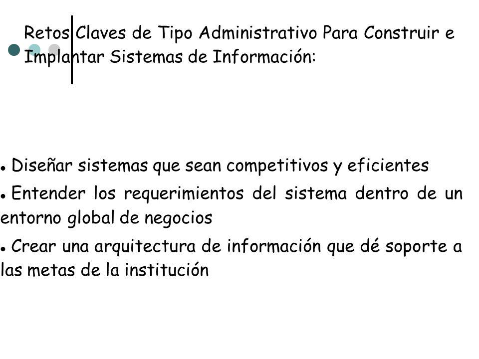 Retos Claves de Tipo Administrativo Para Construir e Implantar Sistemas de Información: