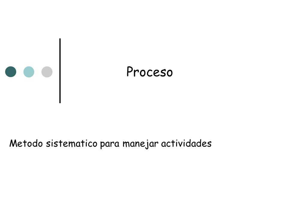 Metodo sistematico para manejar actividades