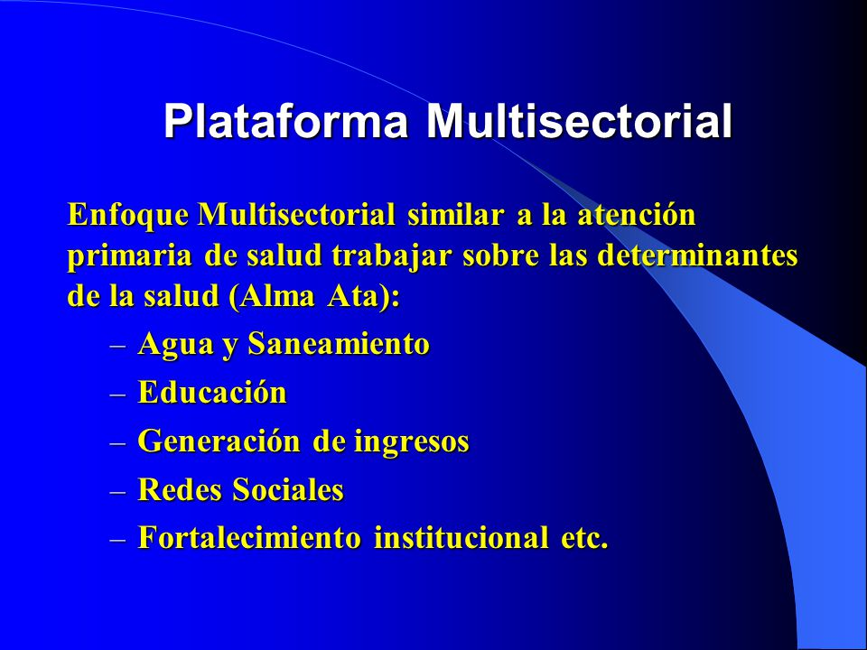 Plataforma Multisectorial