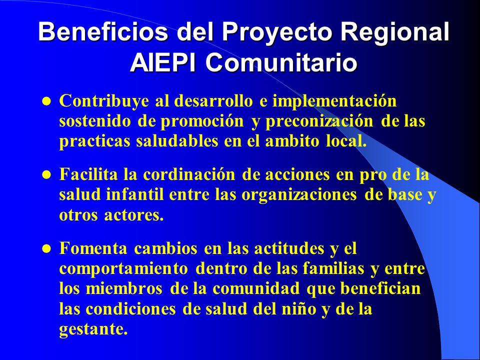 Beneficios del Proyecto Regional AIEPI Comunitario