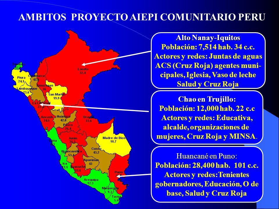 AMBITOS PROYECTO AIEPI COMUNITARIO PERU