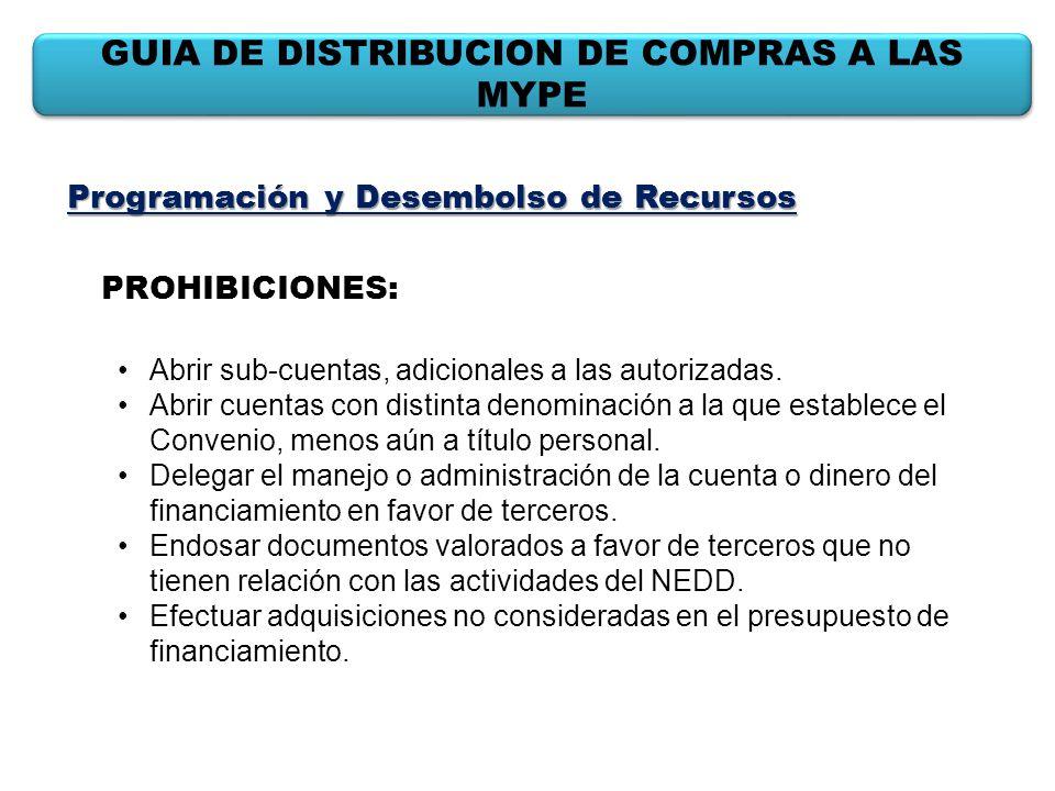 GUIA DE DISTRIBUCION DE COMPRAS A LAS MYPE