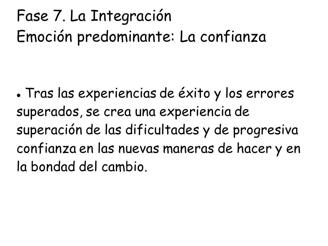 Fase 7. La Integración Emoción predominante: La confianza