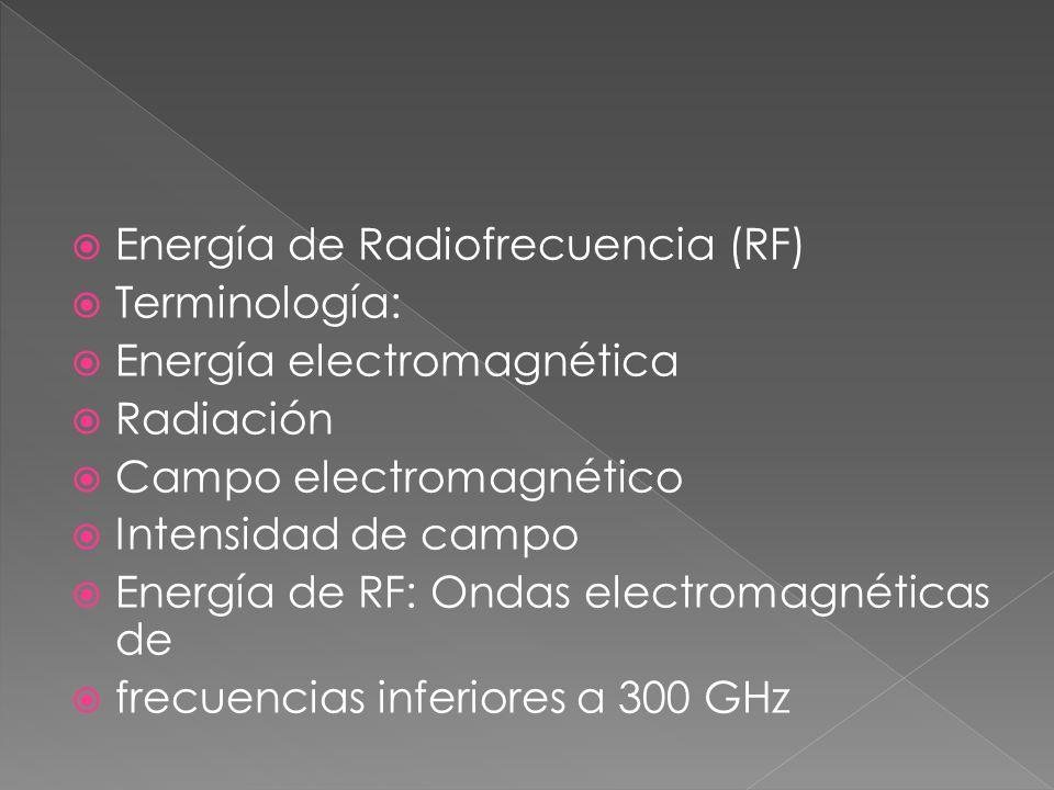 Energía de Radiofrecuencia (RF)