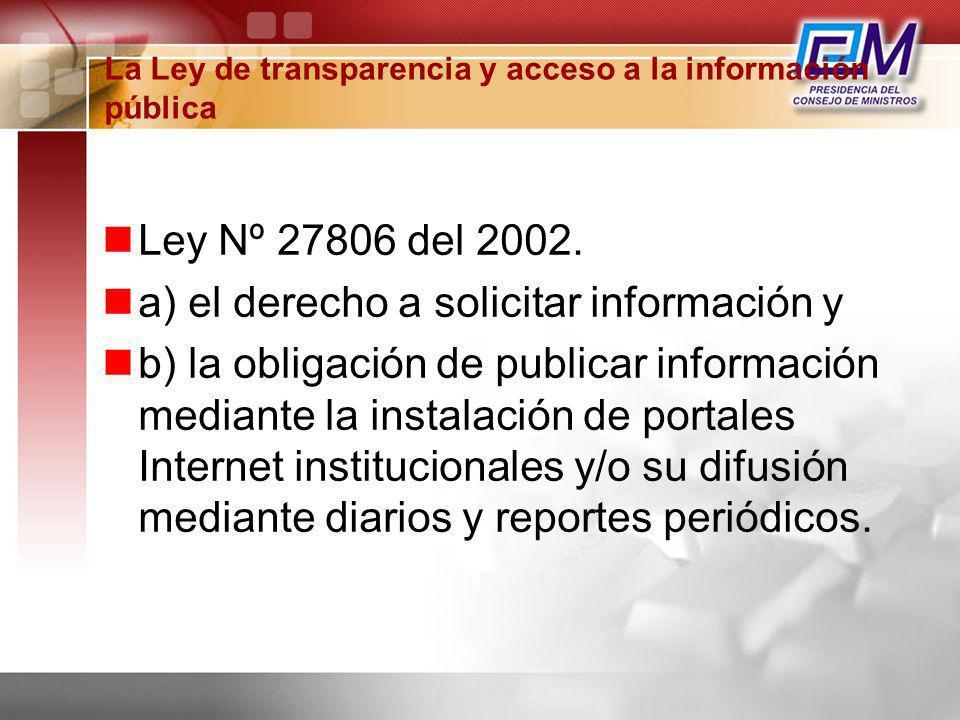 La Ley de transparencia y acceso a la información pública