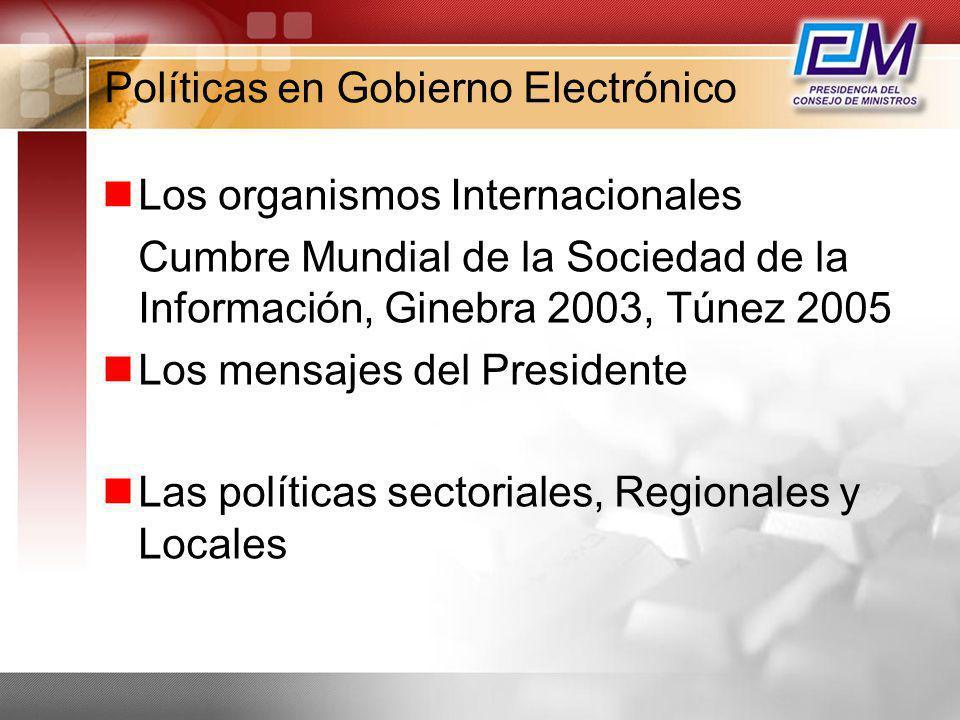 Políticas en Gobierno Electrónico