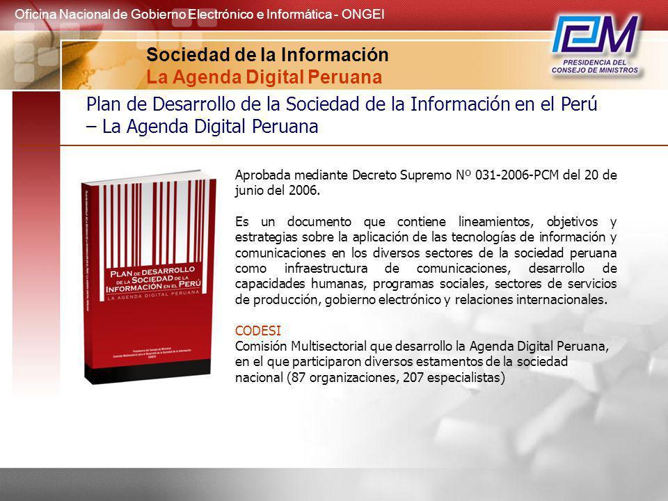 Sociedad de la Información La Agenda Digital Peruana