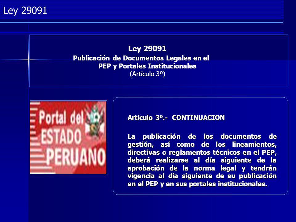 Ley 29091