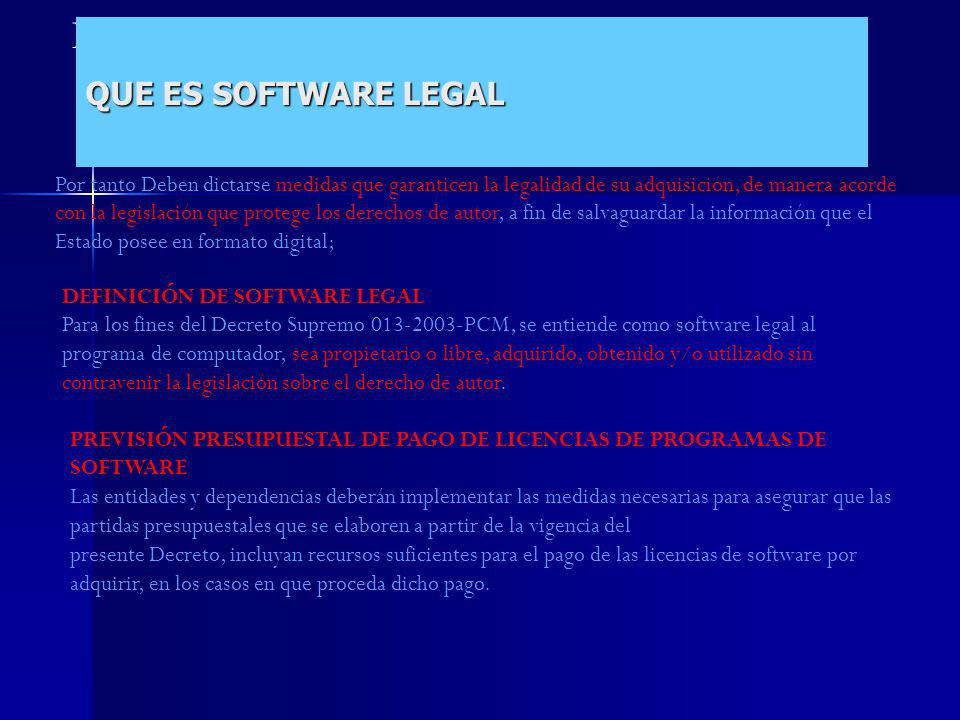 QUE ES SOFTWARE LEGAL