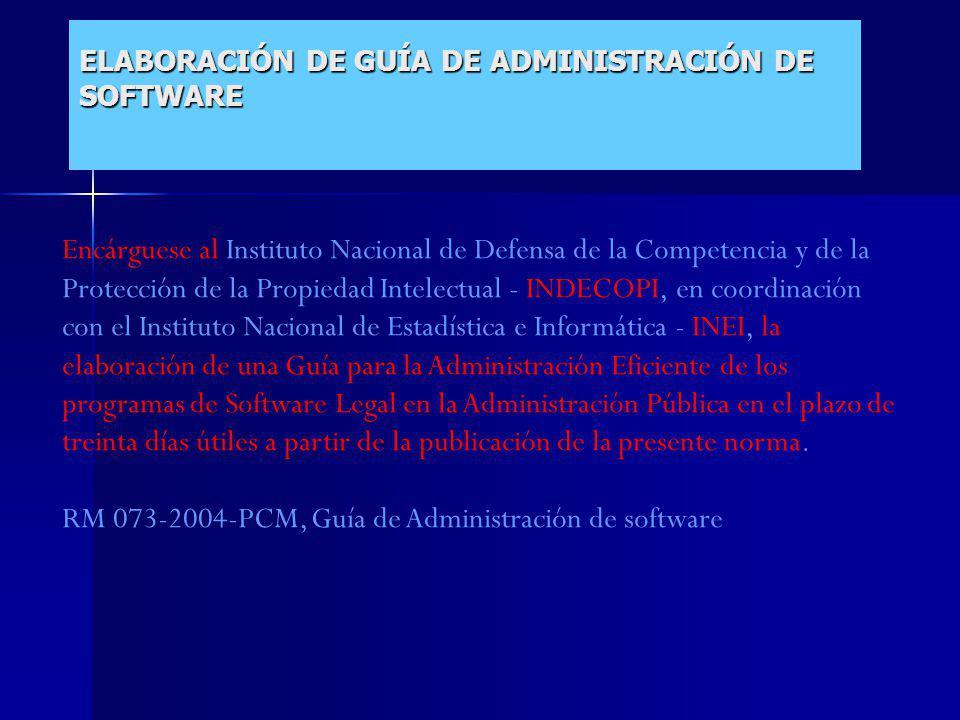 ELABORACIÓN DE GUÍA DE ADMINISTRACIÓN DE SOFTWARE