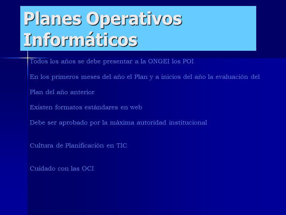 Planes Operativos Informáticos