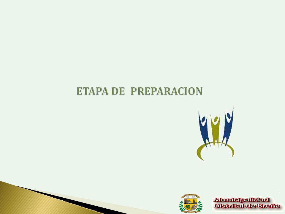 ETAPA DE PREPARACION