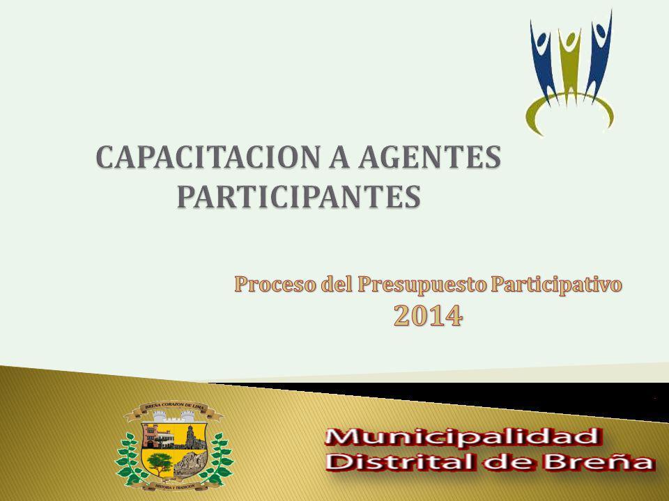 CAPACITACION A AGENTES PARTICIPANTES