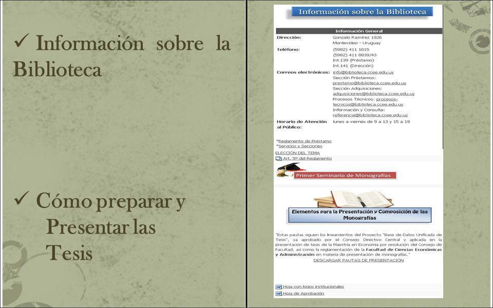 Información sobre la Biblioteca