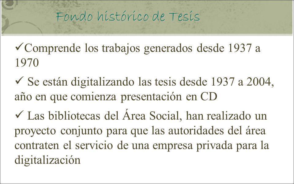 Fondo histórico de Tesis