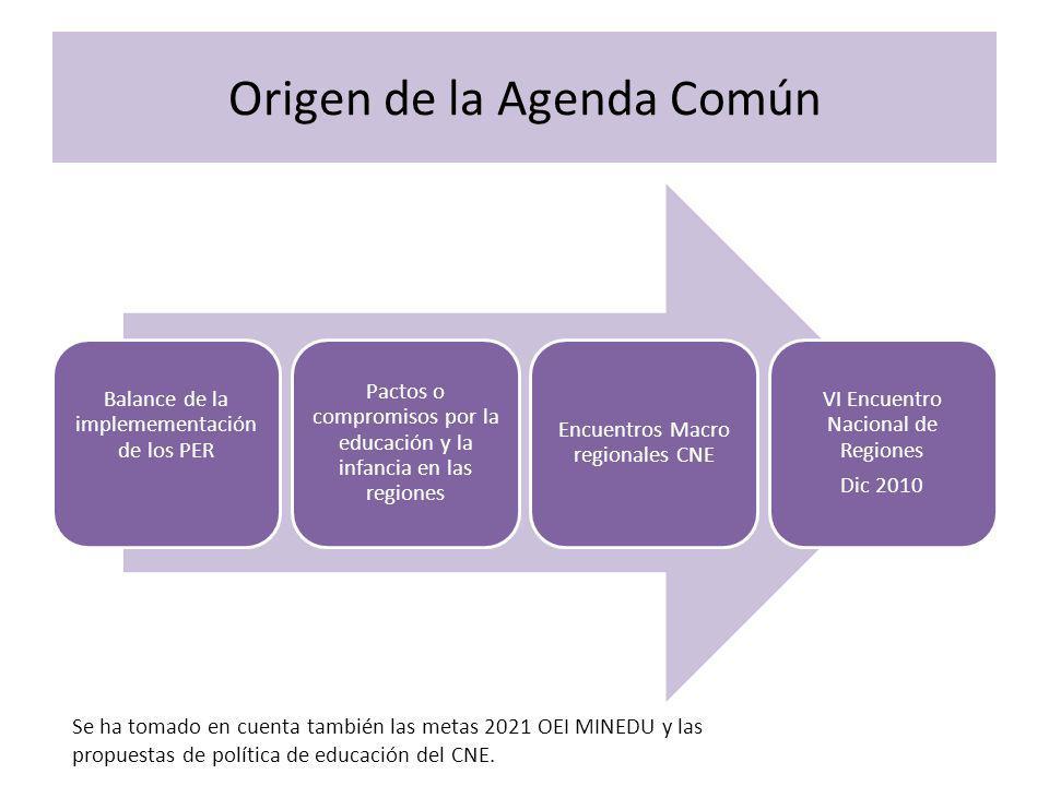 Origen de la Agenda Común